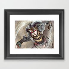 Zodiac Sign: Aries Framed Art Print