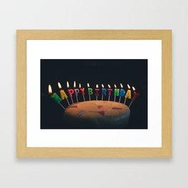 happy birthday 4 Framed Art Print