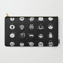 A Black and White Spotters Guide Carry-All Pouch