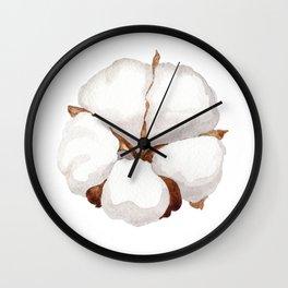 Cotton Flower 02 Wall Clock