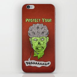 Zombie Brains iPhone Skin