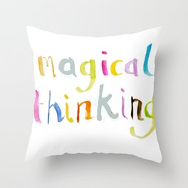 magical thinking watercolor Throw Pillow