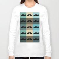 moustache Long Sleeve T-shirts featuring Moustache by Zetanueta