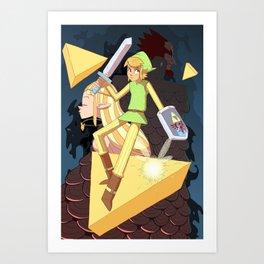 Tribute the Legend of Zelda Art Print
