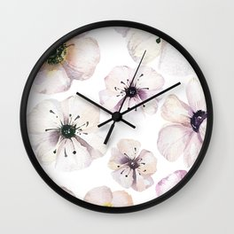 Moon flowers Wall Clock