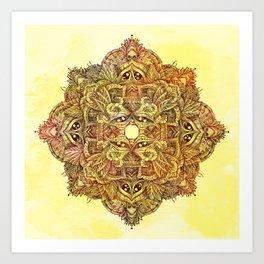 Botanical BioMorph Mandala 2 Art Print