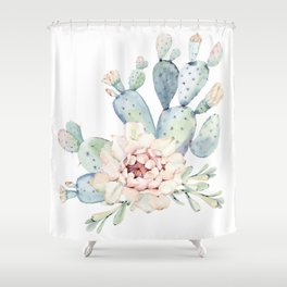 Perfect Cacti Rose Shower Curtain