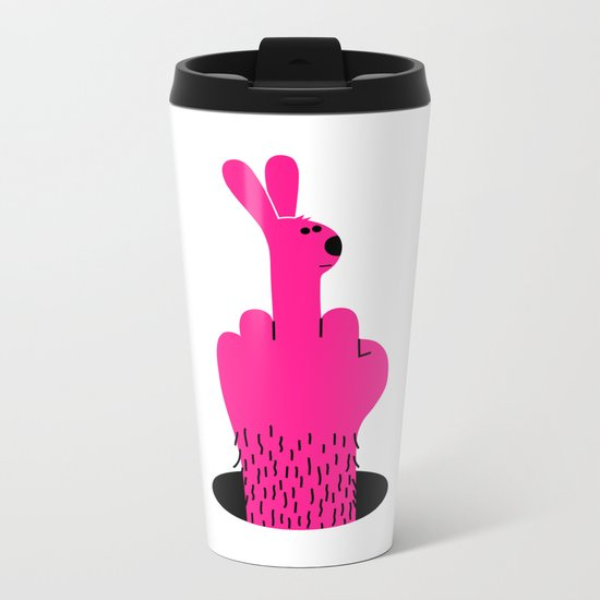 Rude Rabbit Metal Travel Mug