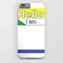 Hello I am from Comoros iPhone Case