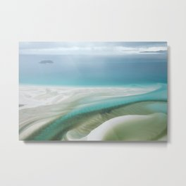 Lines on Whitehaven Metal Print