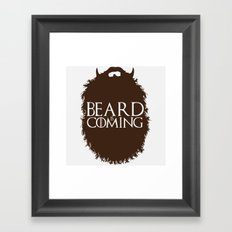 The Beard Collection - Beard is Coming Framed Art Print