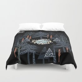 fairytale night forest Duvet Cover