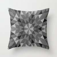 gray pattern Throw Pillows featuring Gray Pattern by 2sweet4words Designs