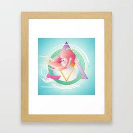 Zodiac Geometry :: Pisces Framed Art Print
