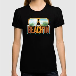 Beachin Sunglasses, Coconut Trees Breeze, Beach'in Vacation Cruise, Getaway Cruise Party, Surfing T-shirt