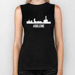 Abilene Texas Skyline Cityscape Biker Tank