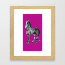Noble Steed (purple) Framed Art Print