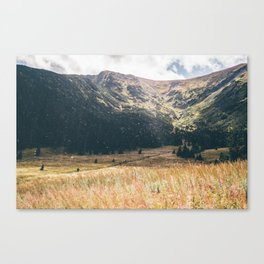 Hala Kondratowa Mountain Valley Landscape Canvas Print