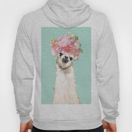 Llama with Flowers Crown #3 Hoody