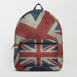 UK Flag, Dark grunge 1:2 scale Backpack