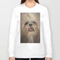 shih tzu Long Sleeve T-shirts featuring Shih Tzu by Pauline Fowler ( Polly470 )