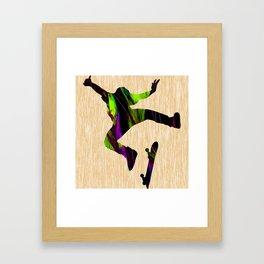 Skateboarder Framed Art Print
