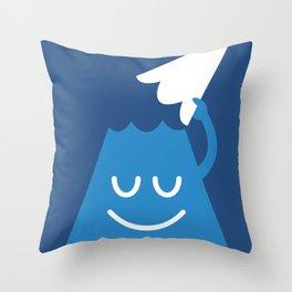 A Friendly Mountain Greeting Throw Pillow