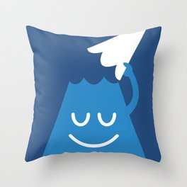 A Friendly Mountain Greeting Throw Pillow