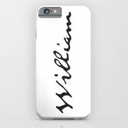 William iPhone Case