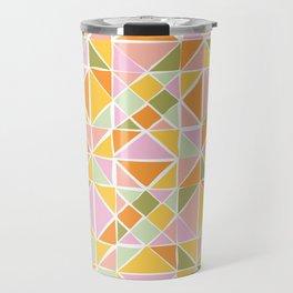 Cute Citrus Geometric Quilt Design Pattern Travel Mug