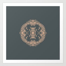 Bee Bee Flower Art Print