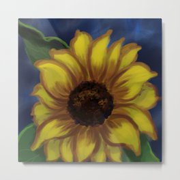Dramatic Sunflower DP141118a Metal Print