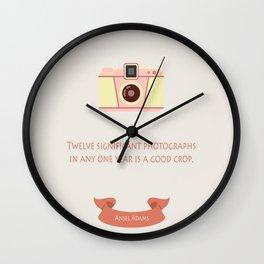 A good crop Wall Clock