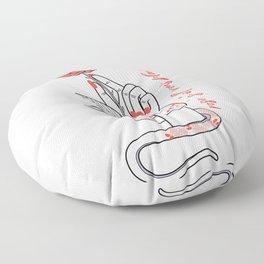 Rosé S'il Vous Plaît Floor Pillow