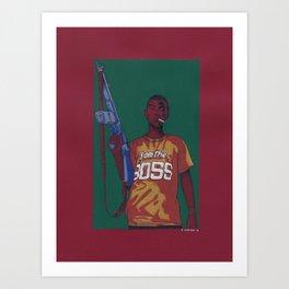 Boss King Art Print