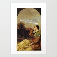 jane austen Art Prints featuring jane austen  by Emily P