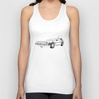 delorean Tank Tops featuring DeLorean DMC-12 by Martin Lucas