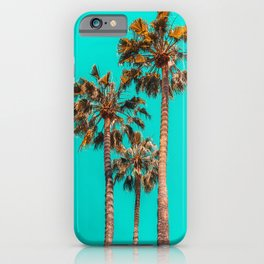 Palm Spring Trees, Breezy Palm, California Laguna Beach, Sunny California Palm Tree Leaves iPhone Case