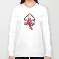 "cardinal Long Sleeve T-shirts featuring ""CARDINAL"" by Magdalena Sky - The Moth"