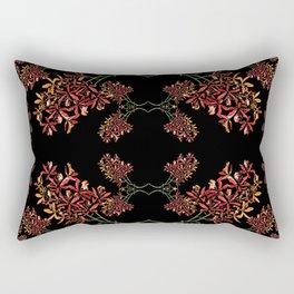Orchids on Black Rectangular Pillow
