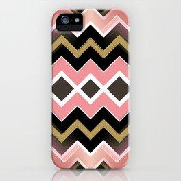 Gold Pastel Chevronize iPhone Case