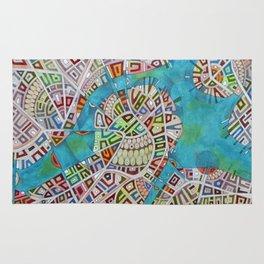 imaginary map of boston  Rug
