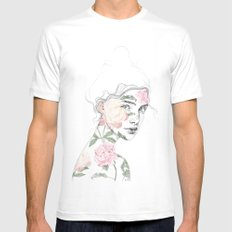 Botanical #1 Mens Fitted Tee X-LARGE White