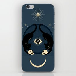 Midnight Cats Doing Their Dark Business iPhone Skin
