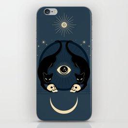 Midnight Cats Doing Their Dark Business iPhone Skin