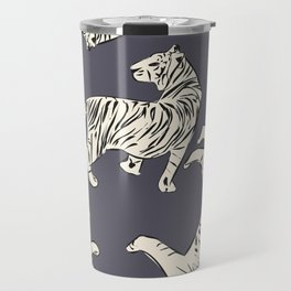 White tiger pattern 002 Travel Mug