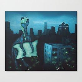 Dinosaur After Dark Canvas Print