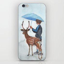 Sous la pluie iPhone Skin