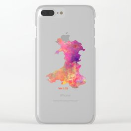 Wales map #wales #map Clear iPhone Case