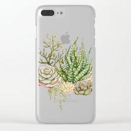 Succulent Bouquet Clear iPhone Case
